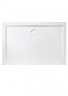 Receveur rectangle space minéral 90x100cm blanc LEDA