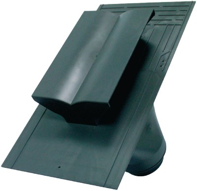 Sortie de ventilation Anthracyte 470X340 145 CM3 diamètre 125 mm