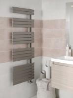 Sèche-serviettes eau chaude CONCERTO asymétrique hauteur 1754mm largeur 550mm couleur gris moyen 760 watts ALTERNA