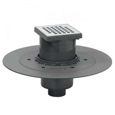 Siphon de sol venisio à sotrie verticale avec grille WIRQUIN