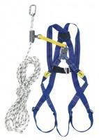 Kit antichute harnais avec coulisseau sur corde Prems