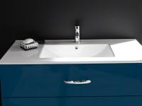 Plan vasque céramique LUNA pour meuble BENTO longueur 100cm DECOTEC