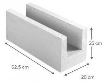 Bloc béton cellulaire chainage horizontal 25x25x62,5cm YTO-XELLA THERMOPIERRE SA