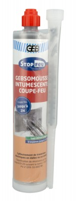 GEBSOMOUSSE intumescente coupe feu cartouche 210ml GEB