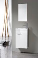 Meuble lave-mains 1 porte, 40cm WOODSTOCK laqué blanc