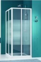 Paroi douche angle largeur 86,5-91,5cm verre sérigraphié BASIC SEGMENT