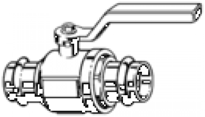 Vanne à sertir 227010 DN28 - VIEGA