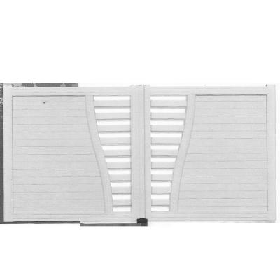 Portail caporal alu blanc saint l onard 56450 for Portail aluminium pas cher