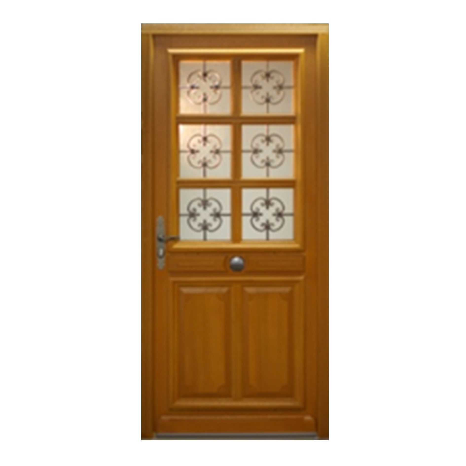 Porte d 39 entr e droite bois exotique meranti mod le ce 215 x 90cm brevon - Traitement bois exotique ...