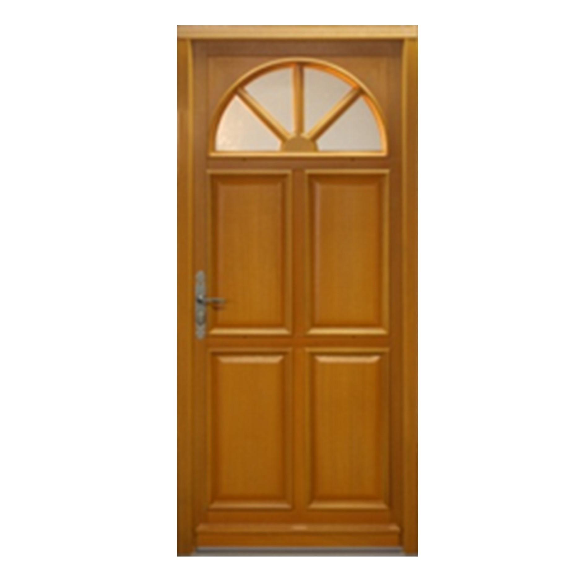 Porte d 39 entr e droite bois exotique meranti mod le el 215 x 90cm brevon - Destockage bois exotique ...