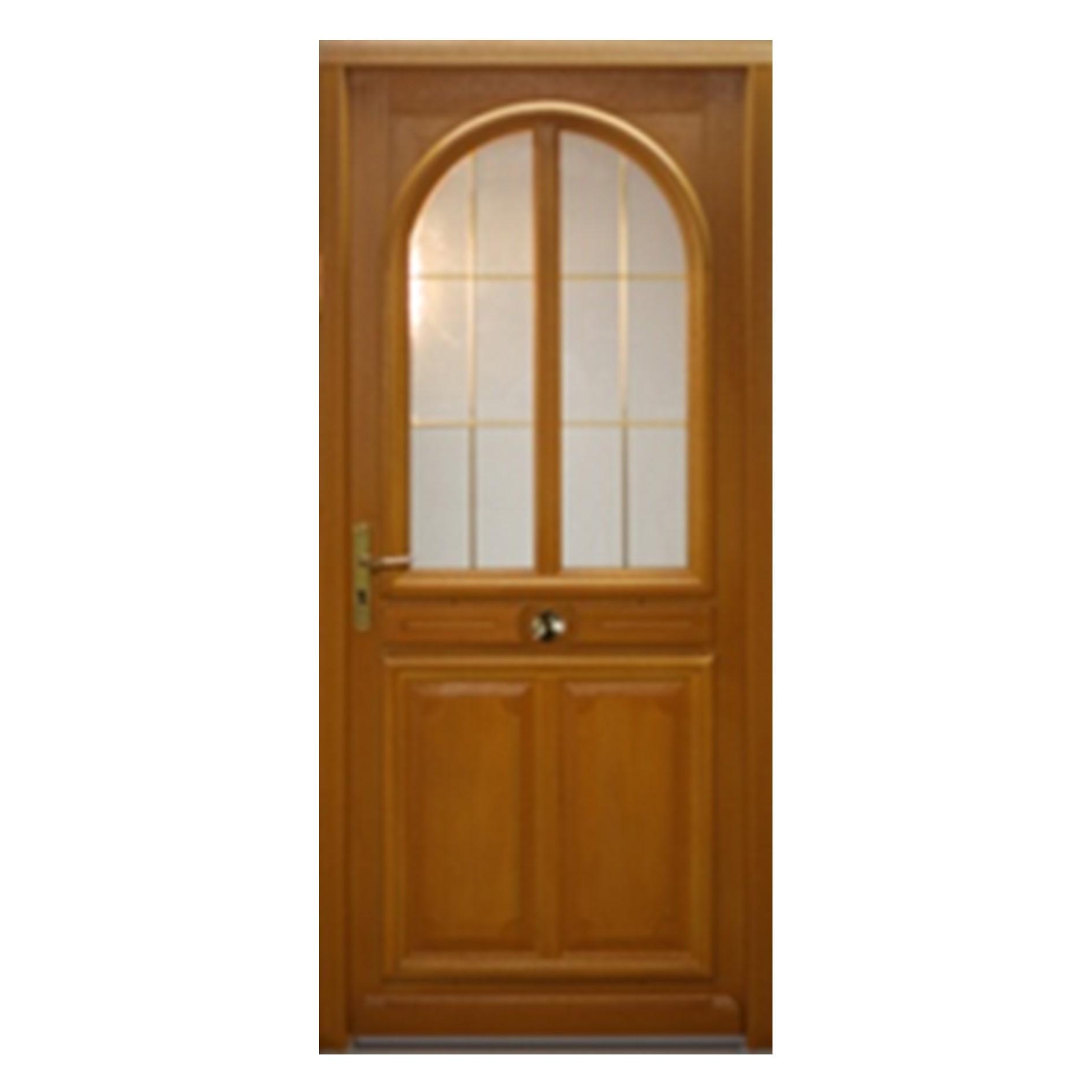 Porte d 39 entr e gauche bois exotique meranti mod le ma 215 x 90cm brevon - Traitement bois exotique ...