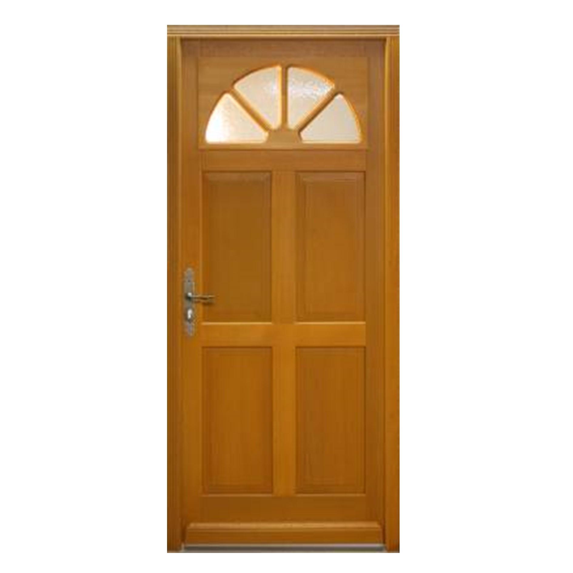 Porte d 39 entr e droite bois exotique meranti mod le fi 215 x 90cm brevon - Traitement bois exotique ...