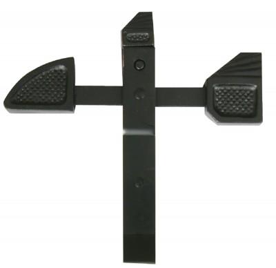 Arret de portail bascule noir ecart 42mm INDUSTRIELLE DE SEDAN: