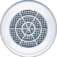Grille d'aération ronde diamètre 103mm blanc Lot de 8