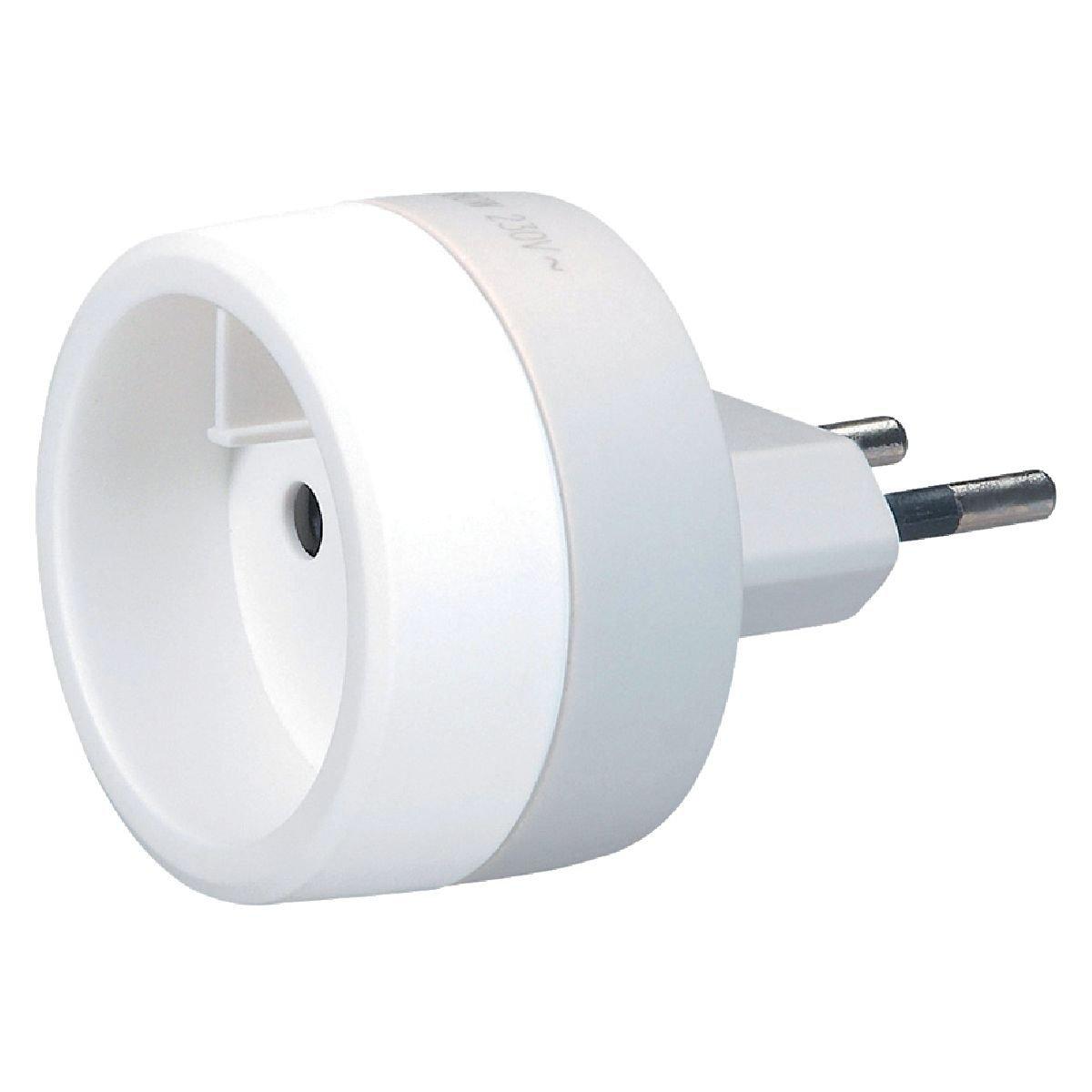 adaptateur prise de courant fran aise 6a blanc ebenoid lot de 6 saint ambroix 30500. Black Bedroom Furniture Sets. Home Design Ideas