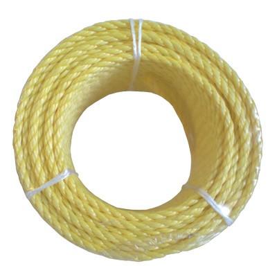 Cordage polypropylène jaune diamètre 8mm au mètre CHAPUIS