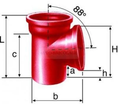 Culotte simple 88° SME diamètre 100mm fonte COMPTOIR GAL FONTES PLASTIQUES