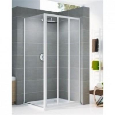 Porte de douche riviera portes 2 coulissant fixe 80 verre for Porte de douche fixe