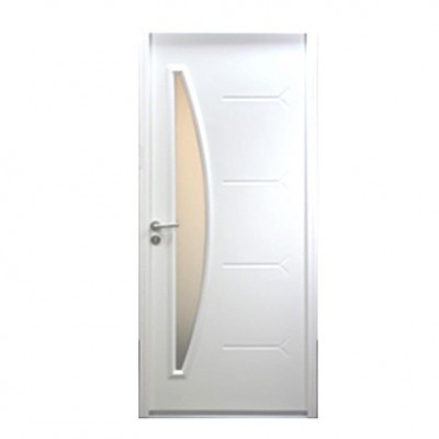 Superbe Porte Du0027entrée Droite Acier/bois Exotique Meranti Modèle LU 215 X 80cm