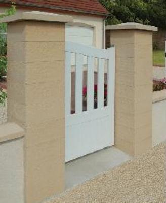 Elément pilier beton REFERENCE blanc 39x39x16,7cm WESER
