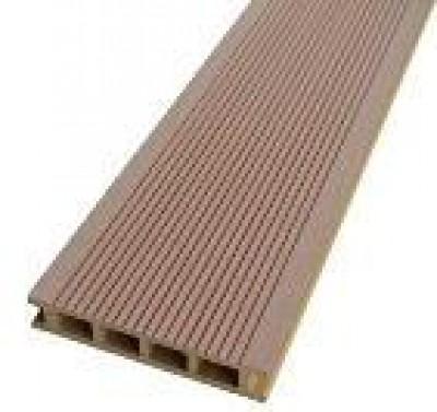 Lame de terrasse bois composite brun noisette 28x140cm 4cm HP2- HENRY