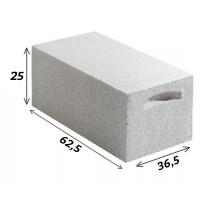 Bloc béton cellulaire chaînage vertical dimensions 36.5x25x62.5cm YTONG