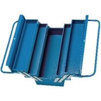 Caisse à outils 5 compartiments bleu 45x20x26cm