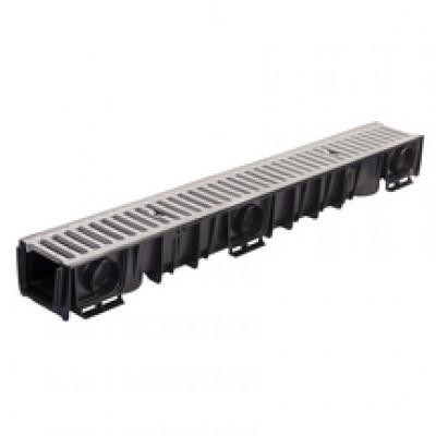 Caniveau DRAINYL ECO + grille 100 hauteur 90mm 1m LEGOUEZ