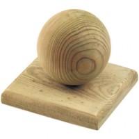 Chapeau boule bois pour poteau de 90mm