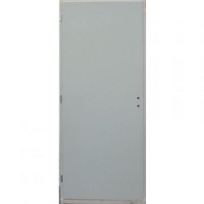 Bloc-porte isotherme prépeint avec raidisseur huisserie 72mm à recouvrement serrure 3 points E73D DMBP DISTRI MAT. BOIS-PANNEAUX