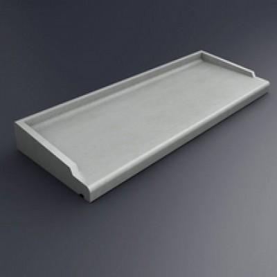 Appui de fenêtre béton ABS2 type 160 gris 35.5x168cm PBM DISTRIBUTION