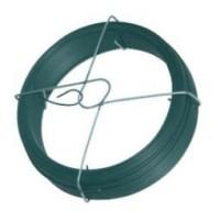 Fil d'attache plastifié vert bobinot diamètre 1.4mm rouleau de 50m