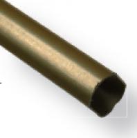 Tube penderie ovale 20x17mm acier bronzé 2000mm NORAIL SAS