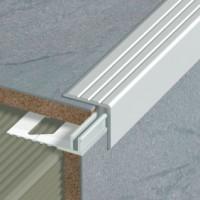 Socle pour nez de marche adaptable 12/15mm aluminium 2,70m