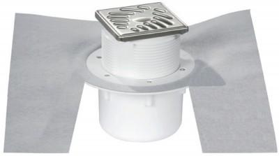 Siphon sol carrelé grille inox verticale NICOLL RACCORDS & PLASTIQUES