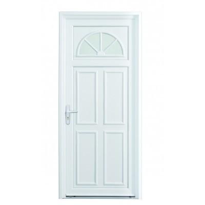 Porte Dentrée PVC Blanc IKARIA Relevage Points Xcm Droite - Destockage porte d entrée