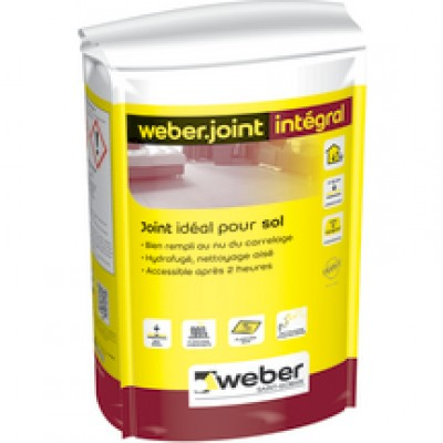 Weber joint integral beige cr me e04 25kg gu rande for Joint carrelage hydrofuge weber