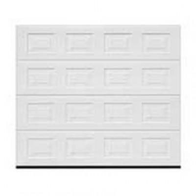 Porte garage sectionnelle europro double paroi wood blanc - Porte de garage sectionnelle tubauto ...