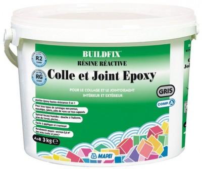 Colle et joint epoxy gris foncé 728