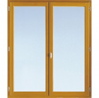 Fenêtre 2 vautaux classic pin lasure 24mm 210x110x5.6cm