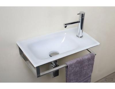 lave mains cristal en verre extra blanc 16x35x35cm toulouse 31201 d stockage habitat. Black Bedroom Furniture Sets. Home Design Ideas