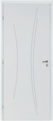 Bloc-porte TH1 KAORI prépeint H74 néolys à recouvrement S3P 73cm droite