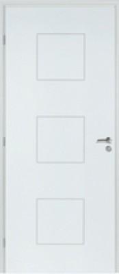Bloc-porte TH1 KLASSIC prépeint huisserie 74 Néolys à recouvrement S3P 73cm droite