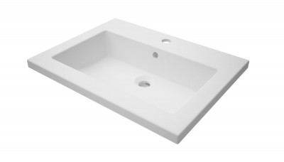 Plan de toilette WOODSTOCK2 en synthèse 60cm vasque centrée