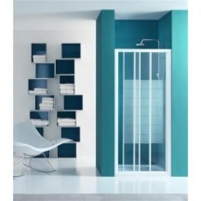 Paroi de douche portes coulissantes largeur 106/112cm verre sérigraphie BASIC SEGMENT