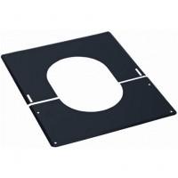 Plaque de finition 30° à 45° inox 230mm noire TEN