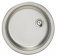 Evier à encastrer 1cuve ronde diamètre45 en inox 18/10 MODERNA
