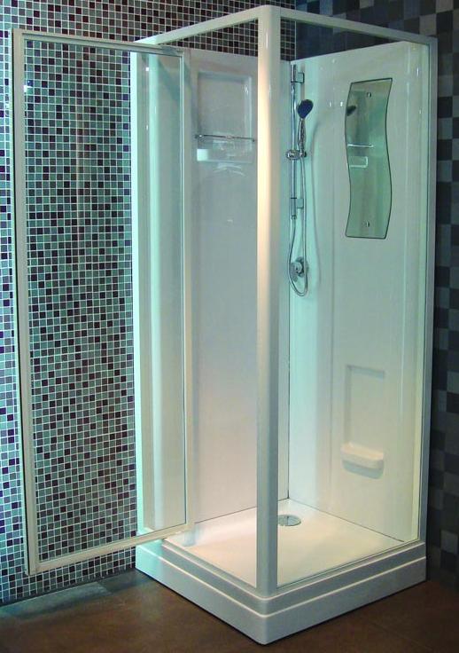 cabine de douche concerto 2 80x80cm face porte pivotante dinan 22100 d stockage habitat. Black Bedroom Furniture Sets. Home Design Ideas