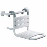 Siège de douche à suspendre sur barre blanc PELLET