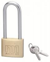 Cadenas MACH 1 laiton poli anse acier 40mm avec 2 clés THIRARD